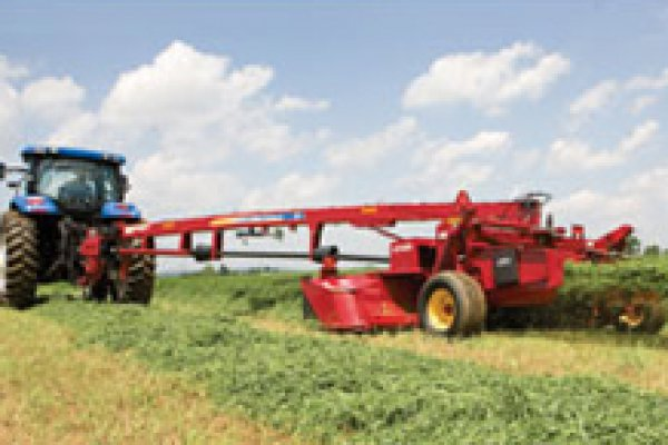 New Holland Ag Products | Haytools & Spreaders | Discbine® H7000 Side-Pull Disc Mower-Conditioner for sale at H&R Agri-Power